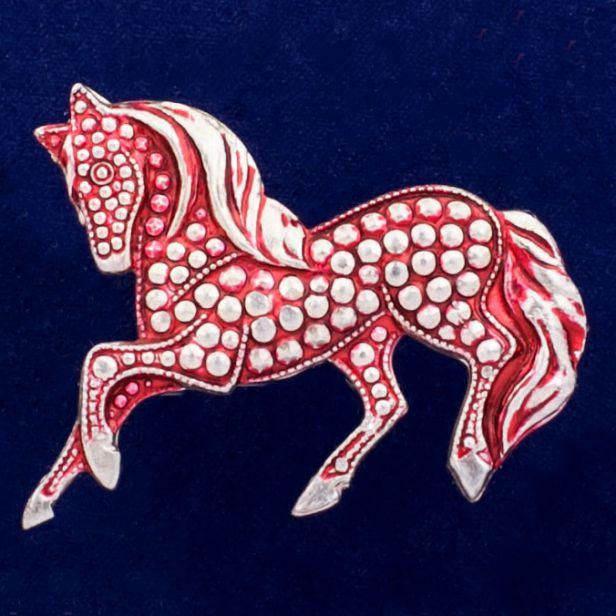 """Значок """"Красный Конь"""""""