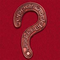 Значок культового английского электронного музыканта Tipper в виде вопросительного знака (бронза)