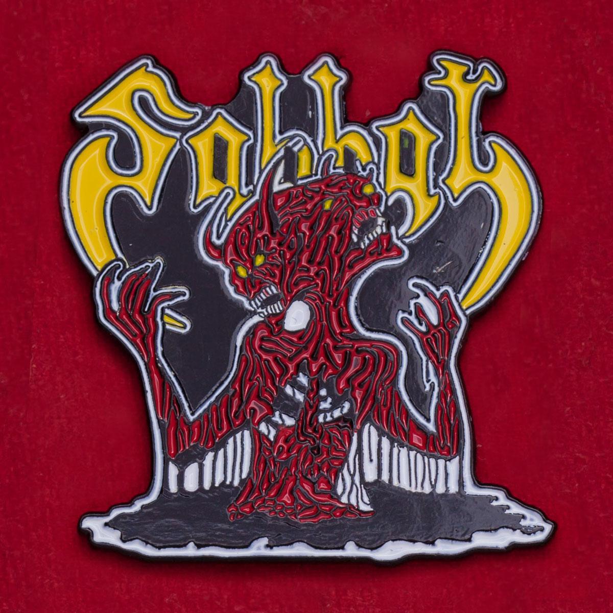 Значок культовой японской black-metal группы Sabbat