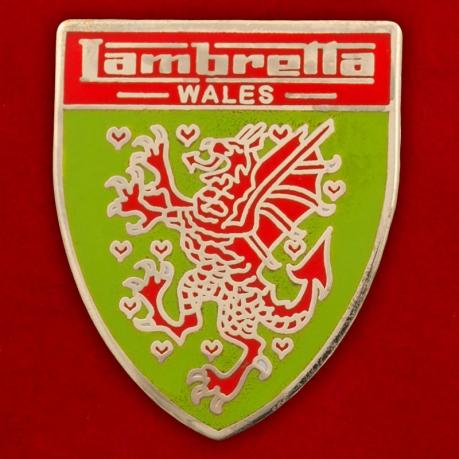 """Значок """"Lambretta Wales"""""""