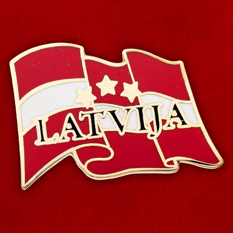 """Значок """"Латвийская Республика"""""""