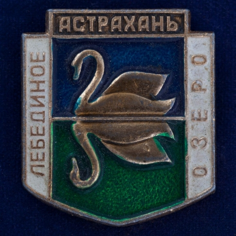 "Значок ""Лебединое озеро в Астрахани"""