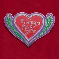Значок магазина разрешенных веществ Loving Farms. Маунт-Вернон, Вашингтон