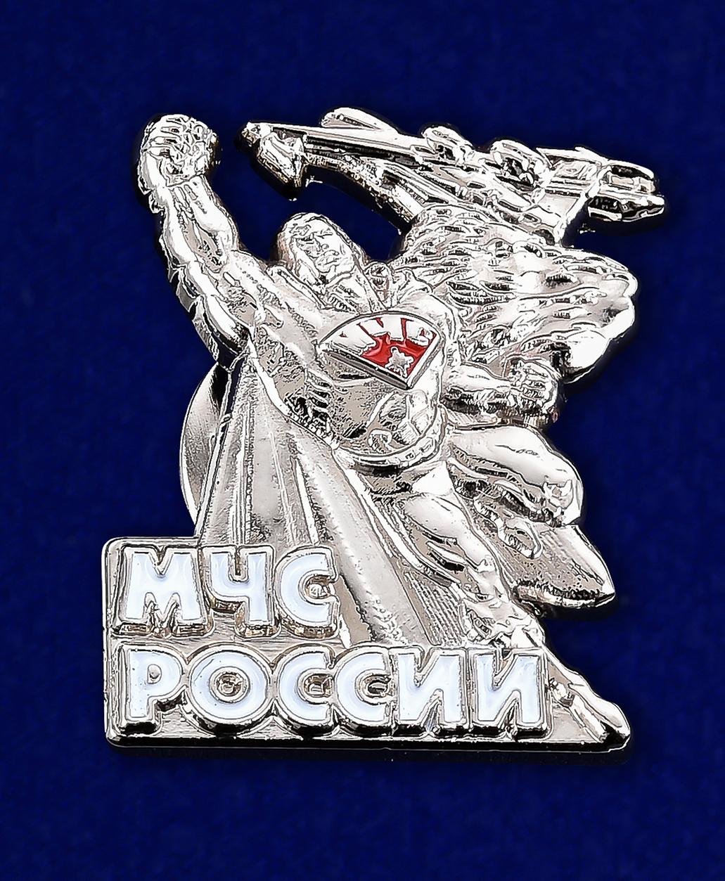 """Значок МЧС России """"Супермен""""-лицевая сторона"""