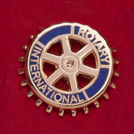 Значок международной парамасонской благотворительной организации Rotary International