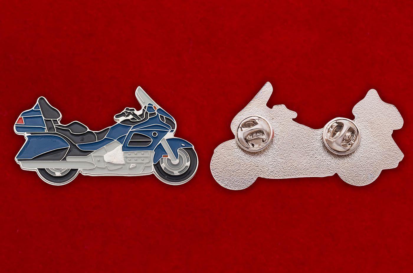 """Значок """"Мотоцикл"""" - аверс и реверс"""