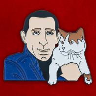 """Значок """"Человек и кошка"""""""