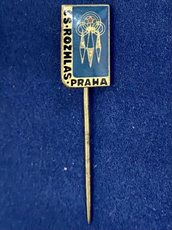 Значок на иголке CS. Rozhlas. Praha