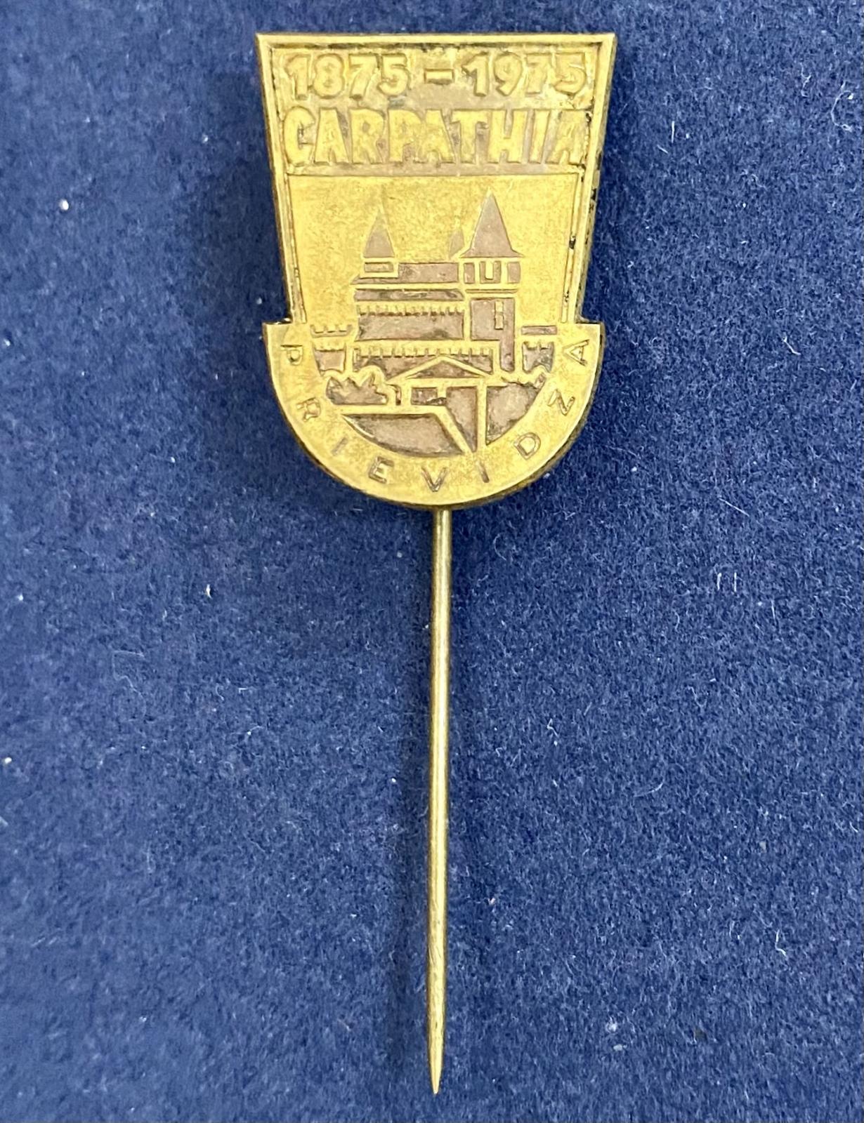 Значок на иголке Karpathia 1875-1975