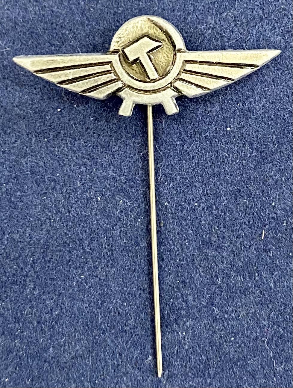 Значок на иголке крылья зарубежного представителя авиакомпании Аэрофлот