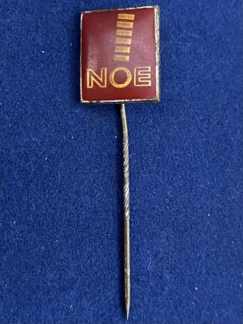 Значок на иголке NOE