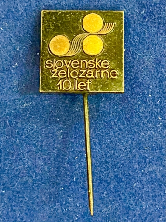 Значок на иголке Slovenske železarne 10 let