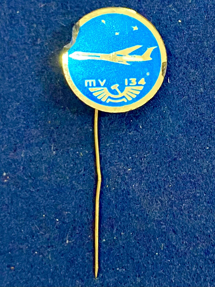 Значок на иголке ТУ-134