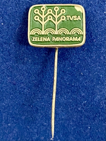 Значок на иголке TVSA Зеленая панорама