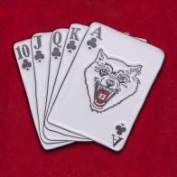 """Значок на удачу в покере """"Ройал Флеш"""""""
