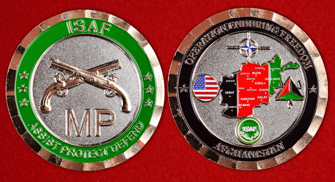 """Значок НАТО """"Военная полиция в Афганистане"""""""