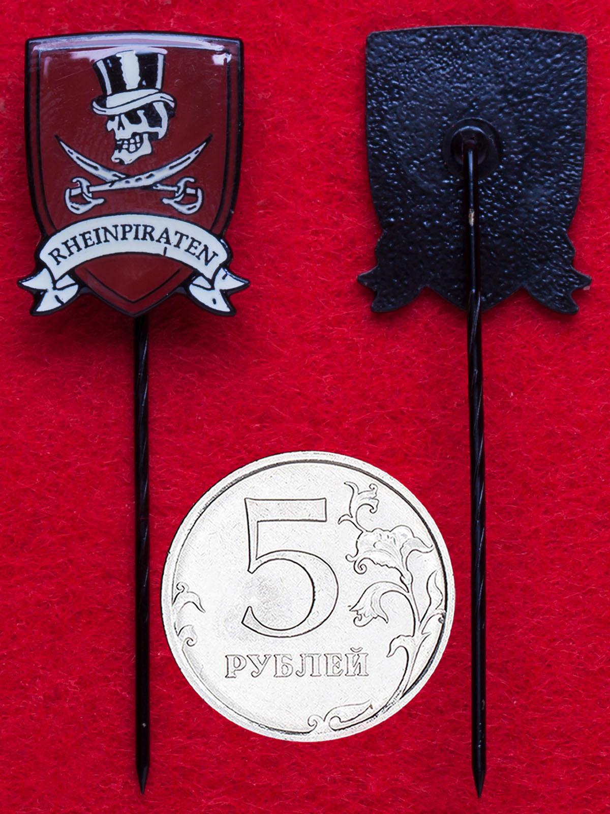 Значок немецкой панк-рок группы Die Toten Hosen «Die Rheinpiraten aus Düsseldorf»