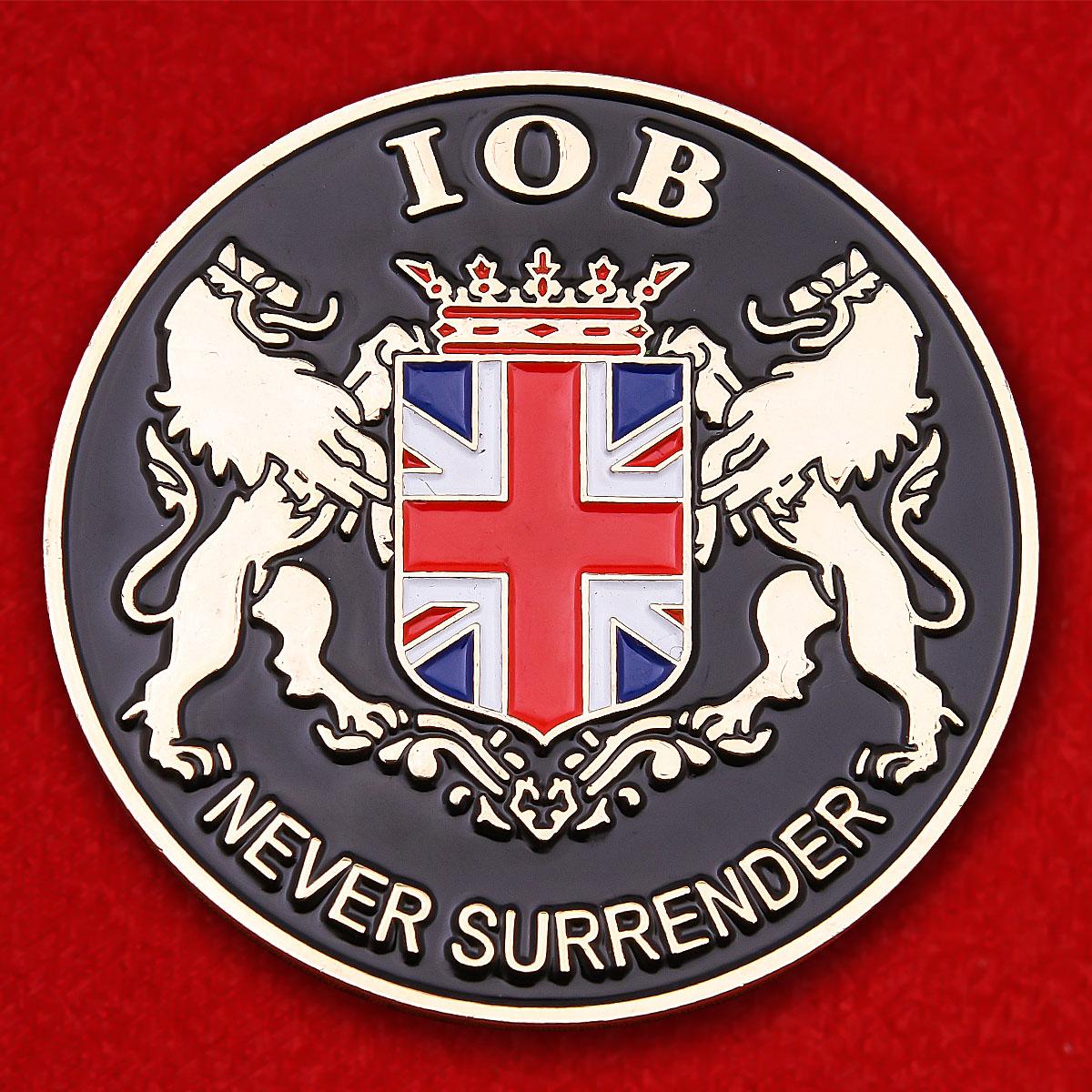"""Значок """"Никогда не сдавайся"""" Института банковского дела Великобритании"""