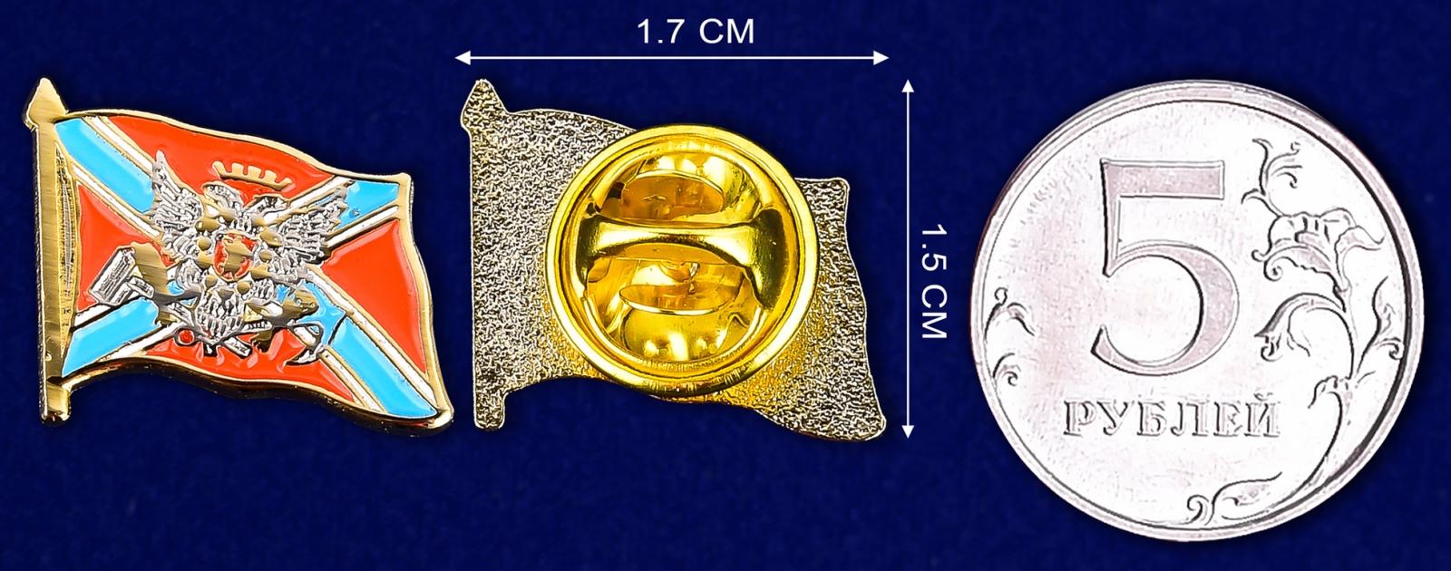 Значок Новороссии - сравнительный размер