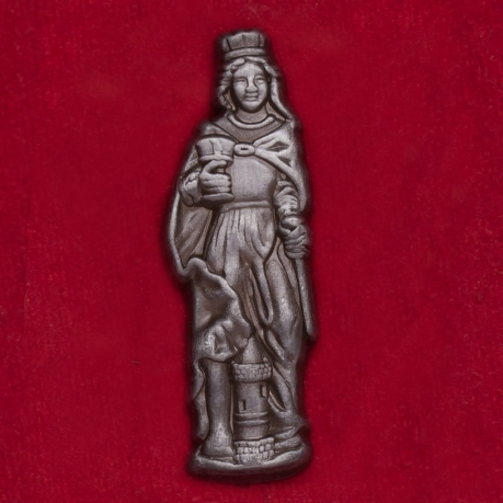 Значок-оберег с изображением Св. Варвары