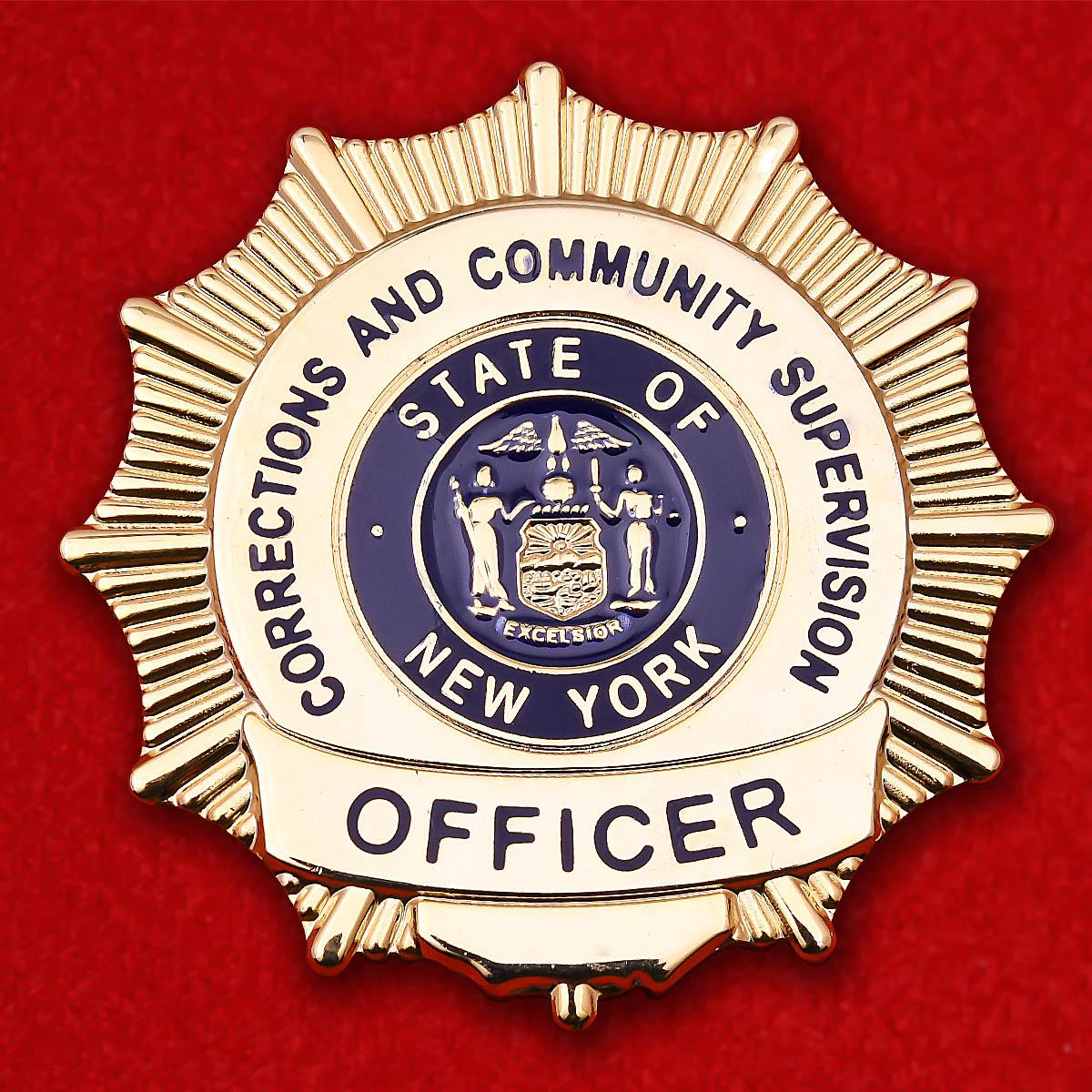 """Жетон """"Офицер Департамента исполнения наказаний и общественного надзора Нью-Йорка"""""""