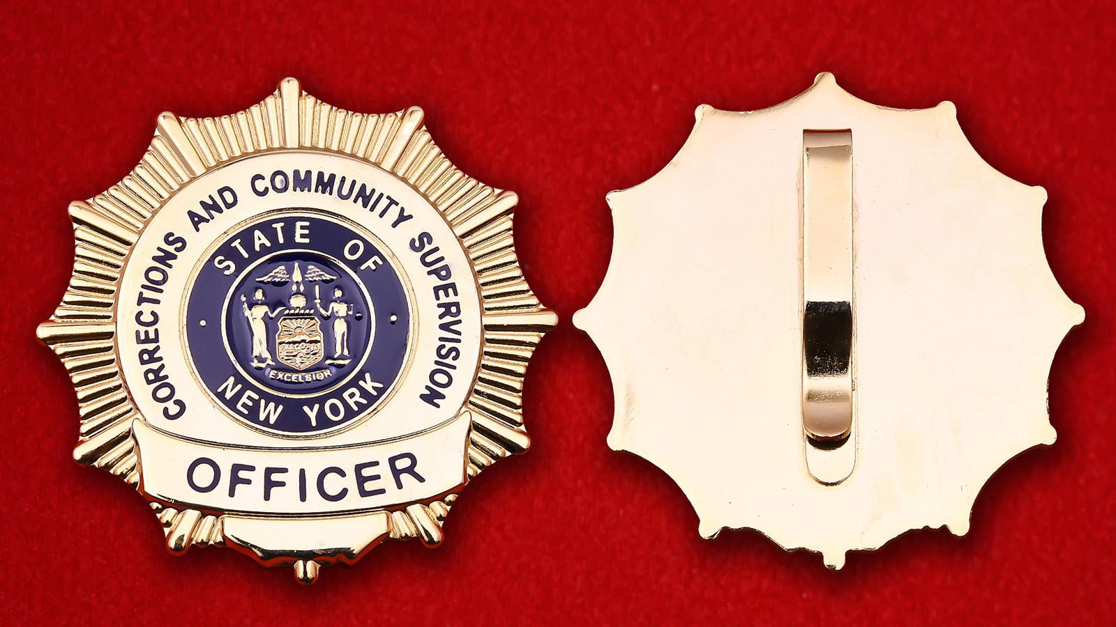 """Значок """"Офицер Департамента исполнения наказаний и общественного надзора Нью-Йорка"""""""