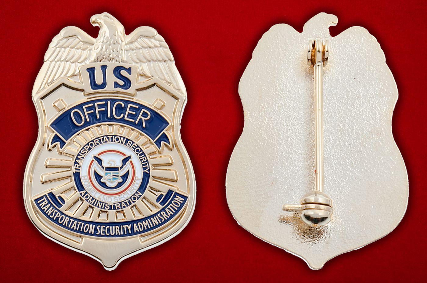 Значок офицера Управления транспортной безопасности США - аверс и реверс