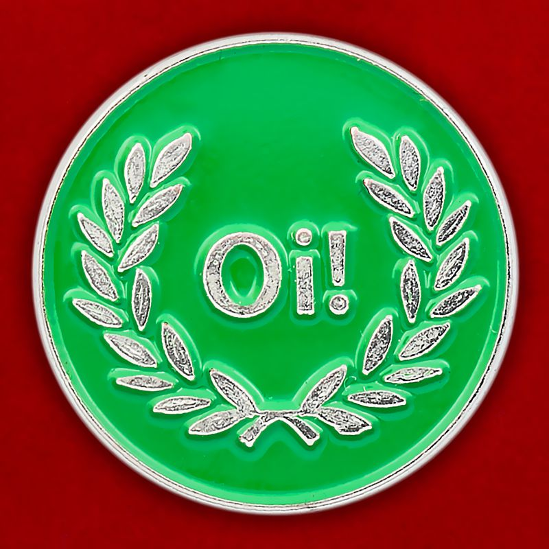 """Значок """"Oi! Laurel"""" зеленый"""