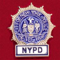 Значок оперативника уголовного розыска полиции Нью-Йорка