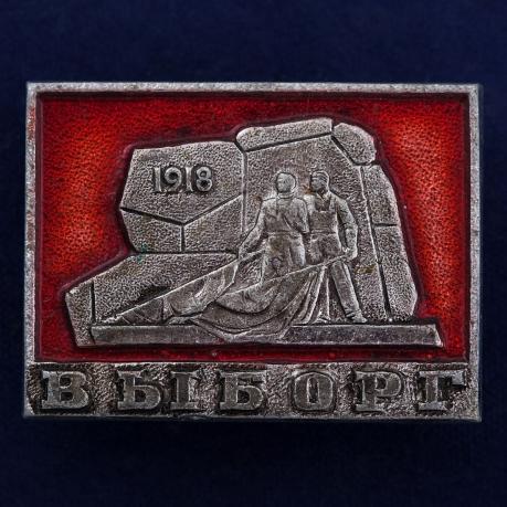 """Значок """"Памятник финским красногвардейцам в Выборге"""""""