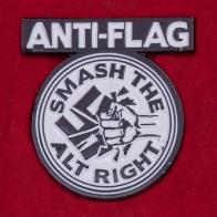 """Значок панк-рок группы Anti-Flag """"Бей ультраправых"""""""