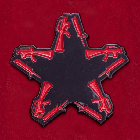 Значок панк-рок группы Anti-Flag в виде звезды