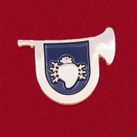 """Значок парадной группы """"Королевский полк"""" школы """"Ранчо Бернард"""" в Сан-Диего"""