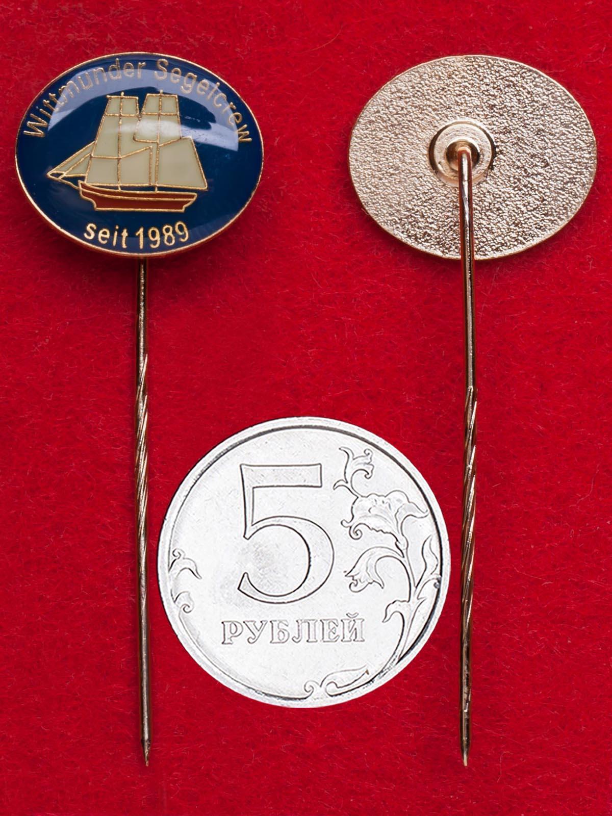 Значок парусного клуба города Витмунд, Германия