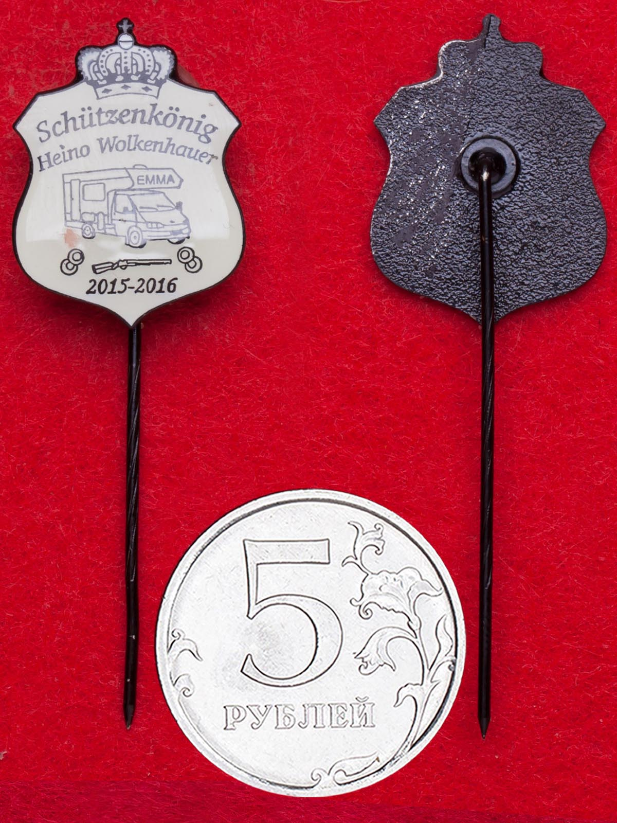 Значок победителя стрелкового фестиваля в Гамбурге Хайно Волькенхауэра