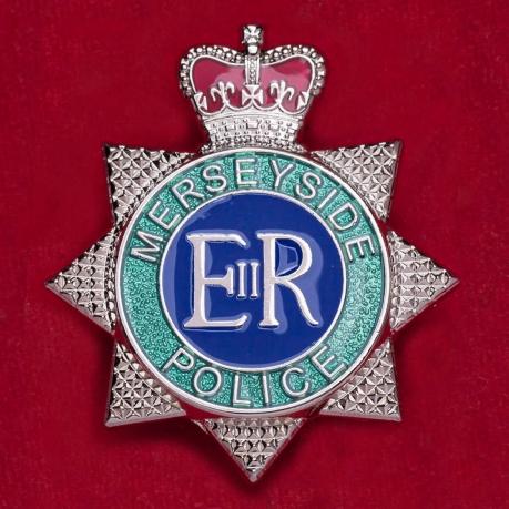 Значок полиции графства Мерсисайд, Англия