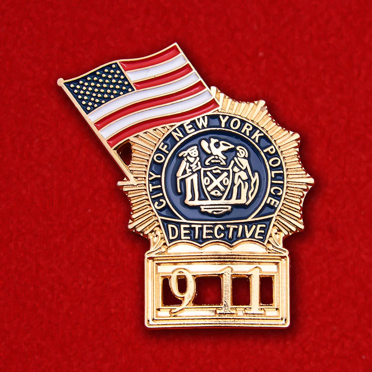 """Значок полиции Нью-Йорка """"В память о 9 сентября"""""""