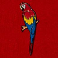 "Значок ""Попугай Ара"" из коллекции ""Фауна"""