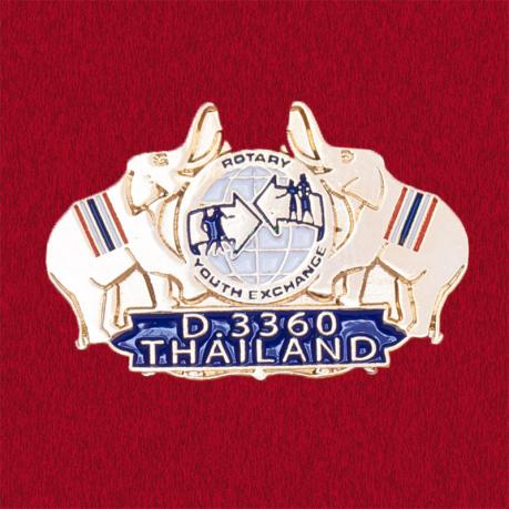 Значок программы молодежного обмена международной организации Rotary International, Таиланд