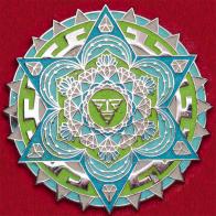 Значок психоделической dance-post-rock группы Sound Tribe Sector 9 с мандалой