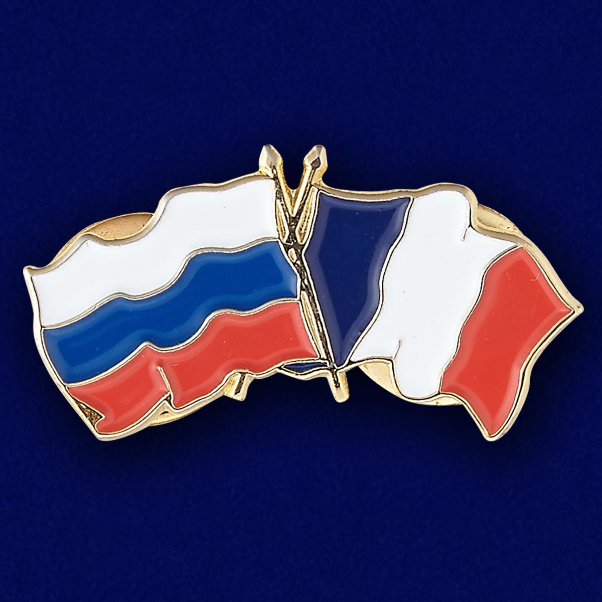 Значок Россия и Франция