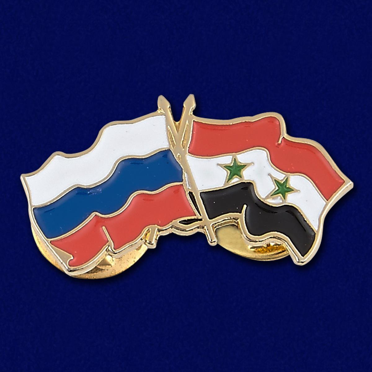 Значок Россия и Сирия