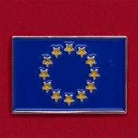 Значок с флагом Европейского Союза
