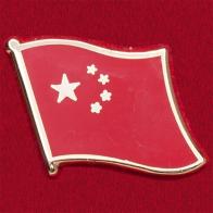 Значок с флагом КНР