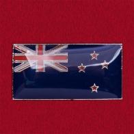 Значок с флагом Новой Зеландии