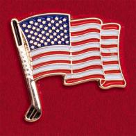 Значок с флагом США (для портмоне)
