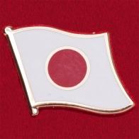 Значок с флагом Японии