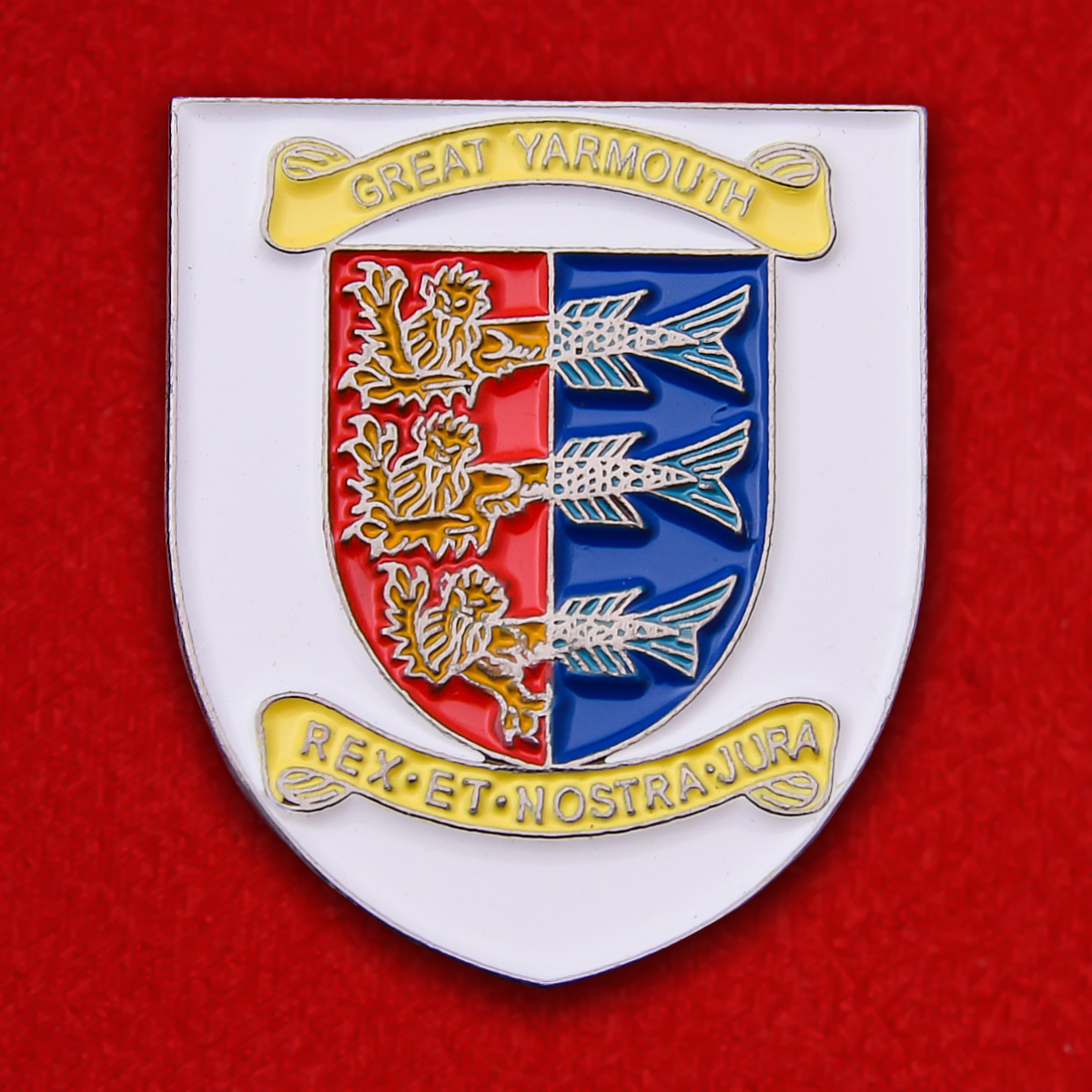 Значок с гербом города Грейт-Ярмут, Великобритания