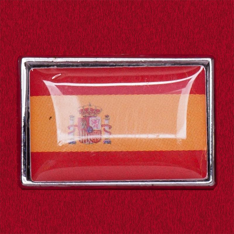 Значок с испанским флагом
