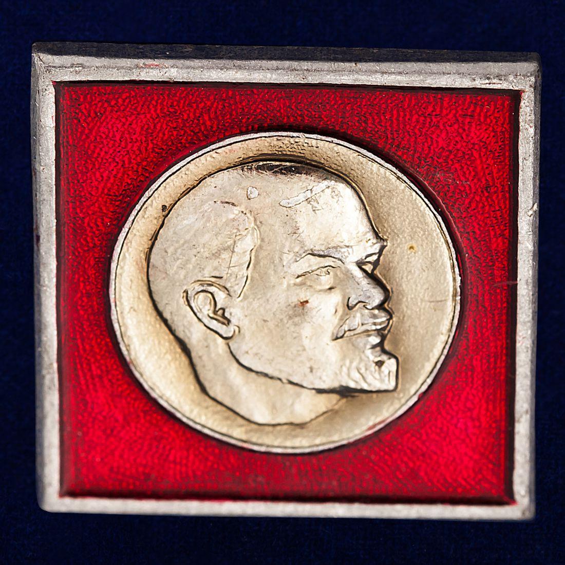 Значок с Лениным на лацкан